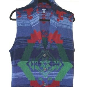 HAND-KNITTED CHAPS SOUTHWEST TRIBAL COTTON VEST